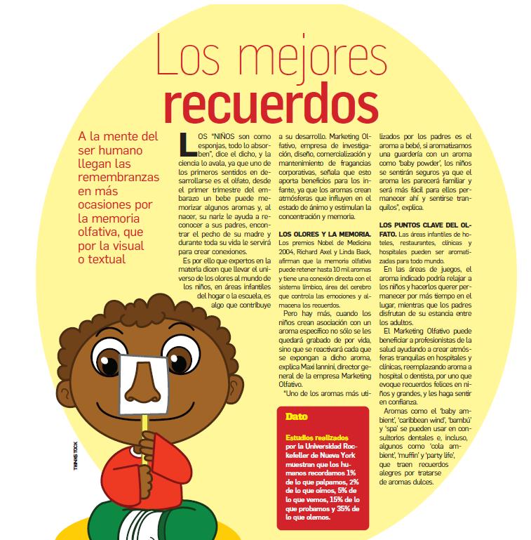 """Extracto de nota publicada en el periódico de circulación nacional en México """"El Gráfico"""""""